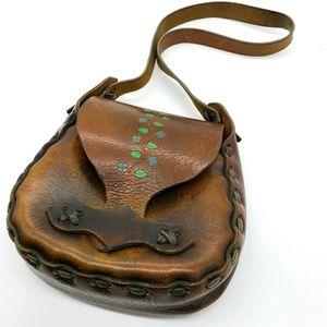Mini Tooled Leather Artesian Shoulder Bag